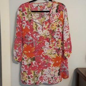 Floral Tunic Size XL
